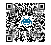 qr code louwii.fr avec le logo space invaders