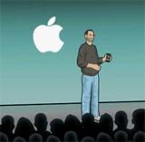 Steve Jobs présentant l'iPhone