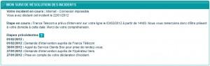 Suivi incident Bouygues Telecom